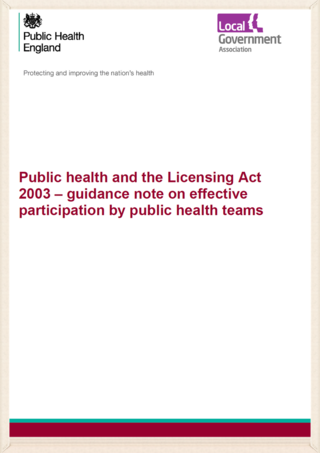 PHE licensing guidance