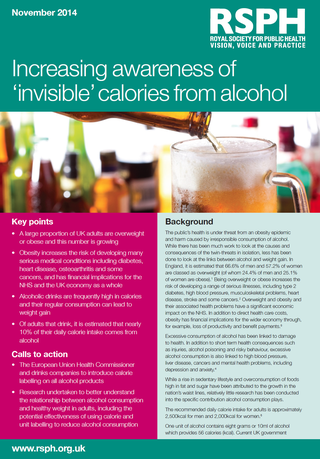 Calories alcohol RSPH