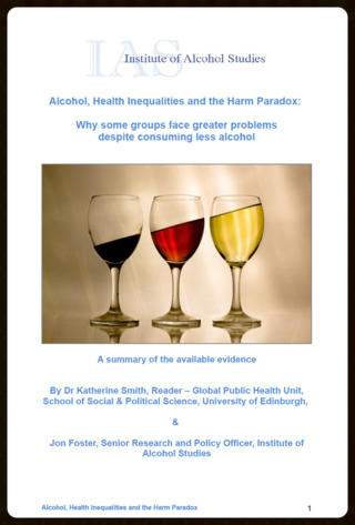IAS alcohol harm paradox