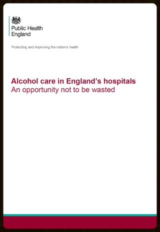 Hospital alcohol provision PHE
