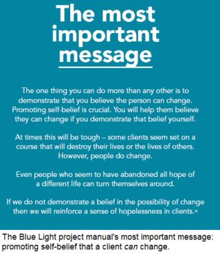 Blue light manual message