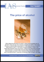 IAS price of alcohol factsheet