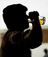 Solider drinking